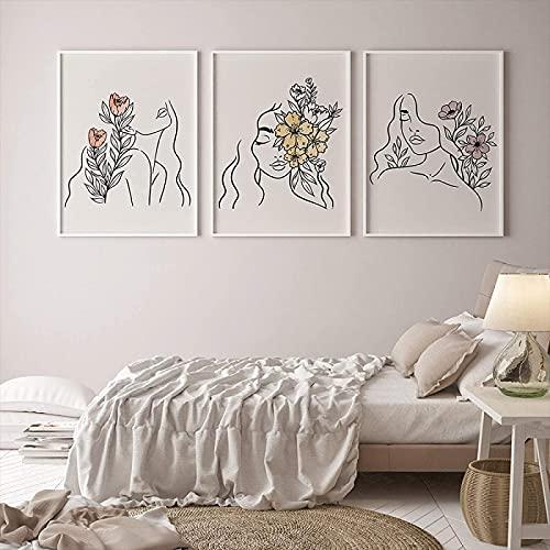 SXXRZA Impresiones de Pared koi Fish Feng Shui Carp Lotus Pond Carteles e Impresiones Cuadros de Arte de Pared para Sala de Estar decoración del hogar 3 Piezas 50x70cm sin Marco