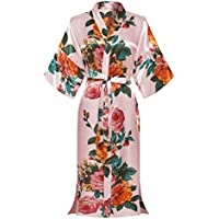 Morforu Kimono Bridal Party Women Silky Long Robes