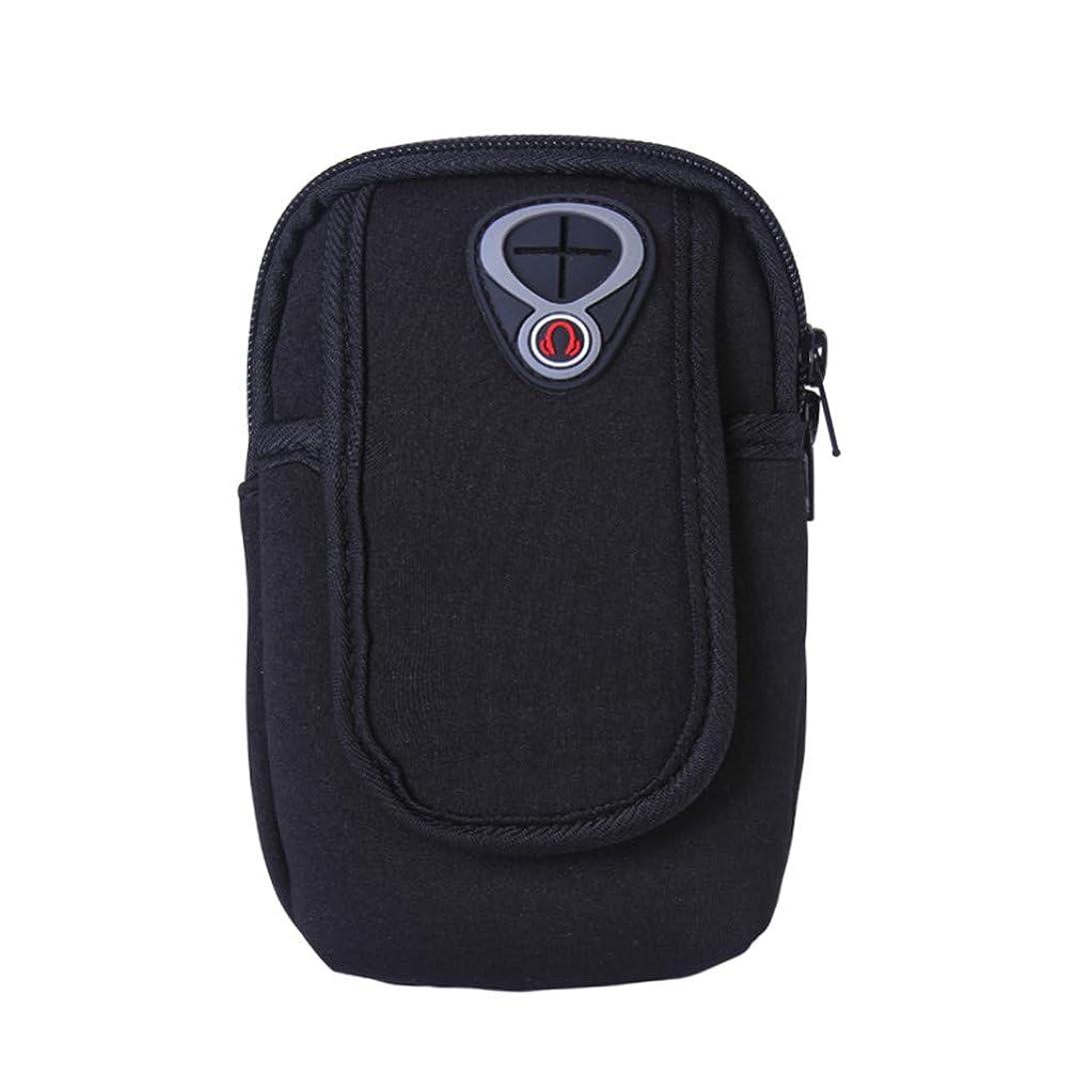 媒染剤精神的にサイバースペーススマートフォンホルダー 携帯ケース YOKINO 通気性抜群 小物収納 防水防汗 軽量 縫い目なし 調節可能 男女共用
