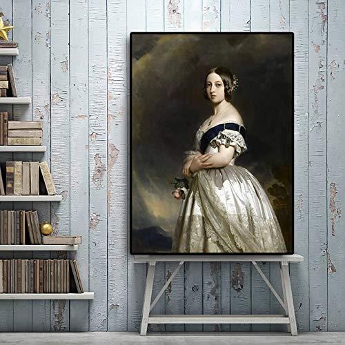Geiqianjiumai olieverfschilderij-affiche van de jongens koningin portret- en print Scandinavische woonkamerwandschilderijen op canvas