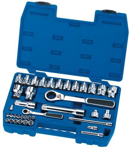 Draper Expert 40174 Clés à cliquet métriques avec jeu de douilles Vortex 13 mm 38 pièces