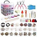 SNOWINSPRING 1960 Unids/Set Kit de FabricacióN de Joyas con Cuentas Alicates de JoyeríA para Collar Pulsera Pendientes FabricacióN y ReparacióN