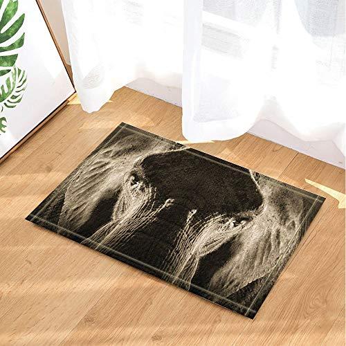 123456789 olifant mout grote kop olifant badmat antislip tapijten tapijten tapijten tapijten voor buiten binnen badkamer 60 x 40 cm