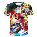 Amacigana Super Mario T-shirt à manches courtes pour garçon avec imprimé 3D Super Mario pour enfant, a8, 130
