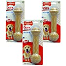Nylabone 3 Pack of Power Chew Barbell Dog Toys, Large/XL, Peanut Butter Flavor