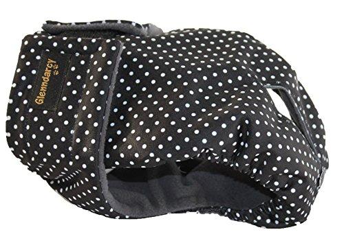 Glenndarcy Weibliche Hundewindel - Wasserdichtes Stoff - Dotty Black Extra Small Pants & 2 Washable Pads