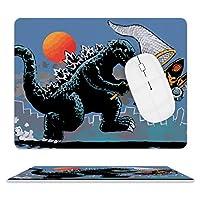 Catching Kaiju Godzilla マウスパッド ゲーミング ワイヤレスマウスパッド 耐久性に優れ 滑り止め 光学式マウス対応 両面 レザー 防水 耐洗い マウス おしゃれ 人気 厚い 疲労軽減 25.5*20.5cm