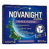 Novanight Bustine Tripla Azione Integratore alimentare con melatonina, griffonia e Magnesio, 20 bustine orosolubili