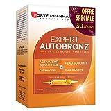 Forté Pharma - Expert AutoBronz | Complément Alimentaire à base de Carothénoïdes et Huile d'Onagre - Effet Bonne Mine | 20 ampoules