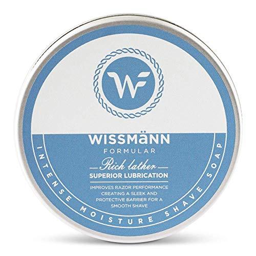 Shaving soap for Men in Shaving Bowl -Wissmann Formular Shaving Cream for men w Glycerin Soap & Dead Sea Mud. Generates a Rich Shaving Foam, Purifies the skin and helps prevent Razor Bumps. 75gr