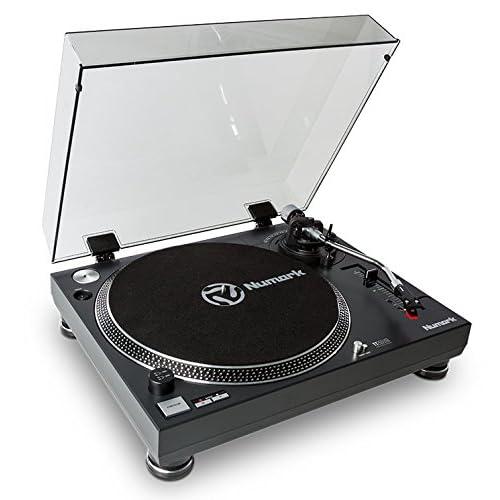 Numark TT250 USB Giradischi DJ Semiautomatico a Trazione Diretta, con Piatto in Alluminio, Braccio a