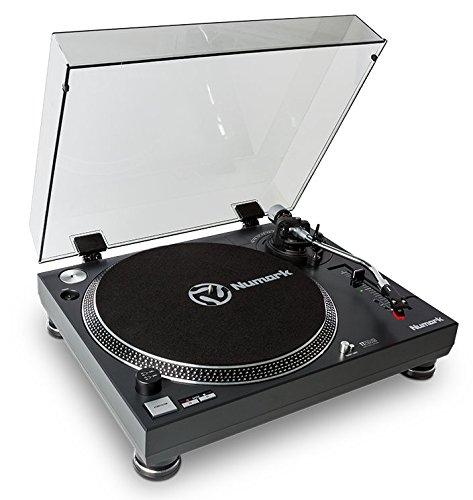 Numark TT250USB | Professioneller DJ-Plattenspieler mit Direktantrieb und starkem Anlaufdrehmoment, Aluminium-Plattenteller, hochwertigem Magnettonabnehmer und 3,5-mm-Eingang für Fernstartfunktion