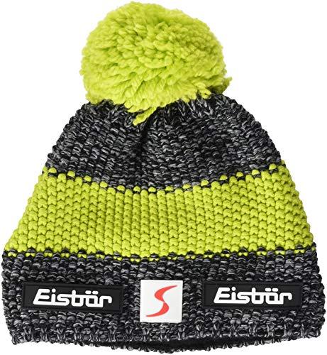 Eisbär Bonnet Unisexe Styler Pompon SP Taille Unique Anthracite/Noir/Citron Vert