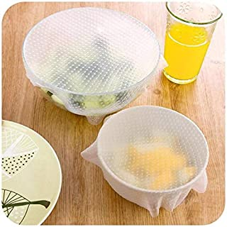 6X Reusable Silicone Wrap Bowl Seal Cover Stretch Lid Keep Food Fresh BLUS