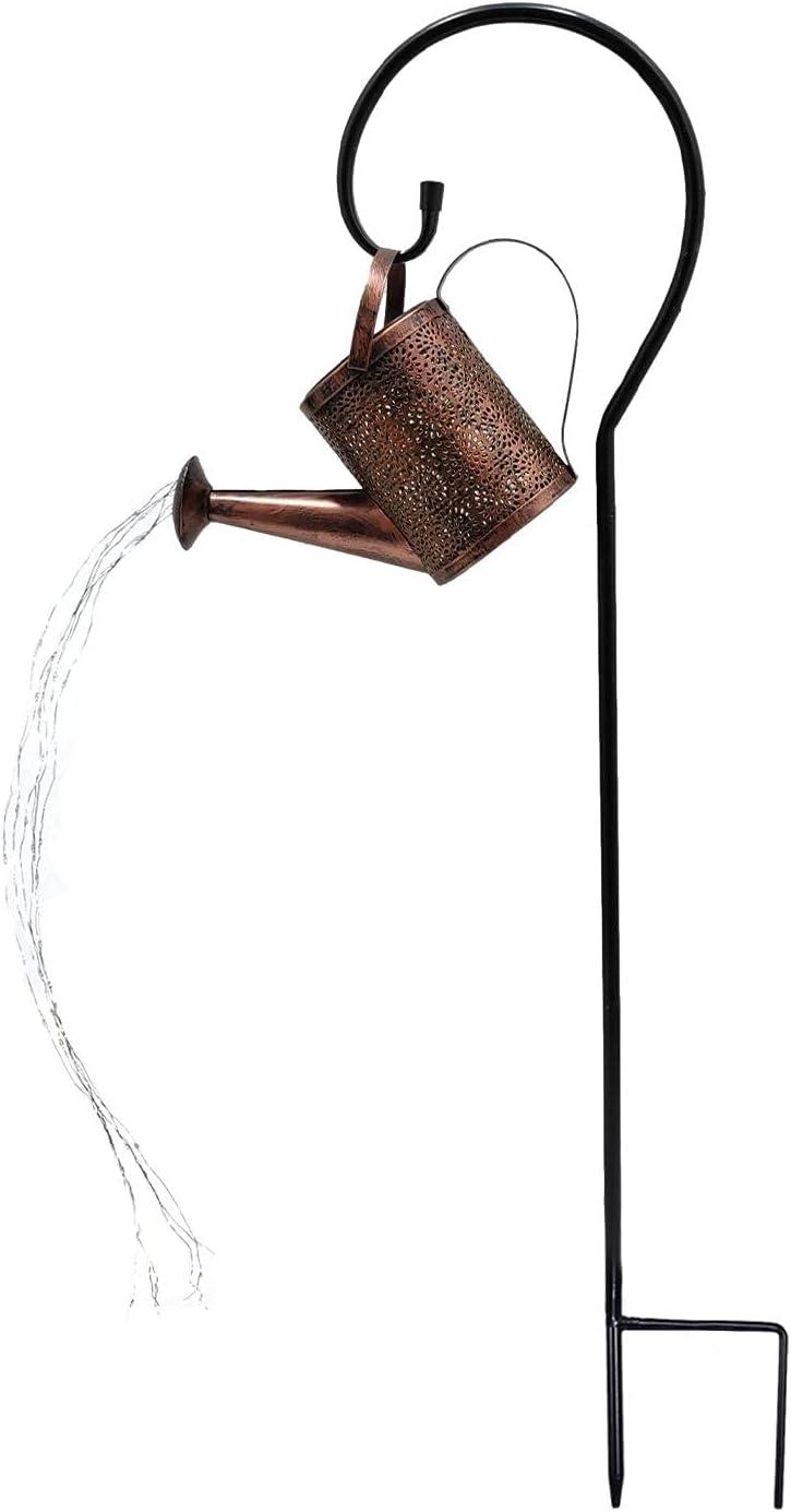 Amusingholiday Solar Light Retro Max 56% OFF Wrought Lamp Shower Lawn Iron Elegant