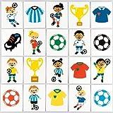 Baker Ross Fußball-Tattoos für Kinder – perfekt als kleine Partyüberraschung und Geschenkidee für Kinder (24 Stück)