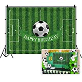 CSFOTO Polyester 7x5ft Soccer Backdrop Football Field Birthday Backdrop Soccer Theme Birthday Party Background for Photography Soccer Sport Bday Photo Wallpaper