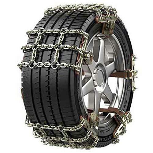 QCYP La Cadena de Nieve es Adecuada para 165 1750185 195205215225235245255265 Cadena de Emergencia de Nieve para neumáticos de automóvil, 10 PCS, 205-225