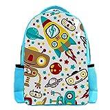 SIDOLI Raumschiff Rockets Galaxy Planet Spielzeugroboter, Niedlicher Kinderrucksack für Jungen Mädchen Kinderschultasche für Kindergarten Vorschule Kleinkind Reisetasche