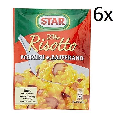 6x Star il mio Risotto Reis Safran und Steinpilze 175g italienisch Fertiggerichte