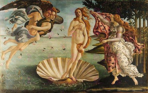 Doppelganger33 Ltd Painting Mythology Roman Botticelli Birth Venus Replica Canvas Art Print