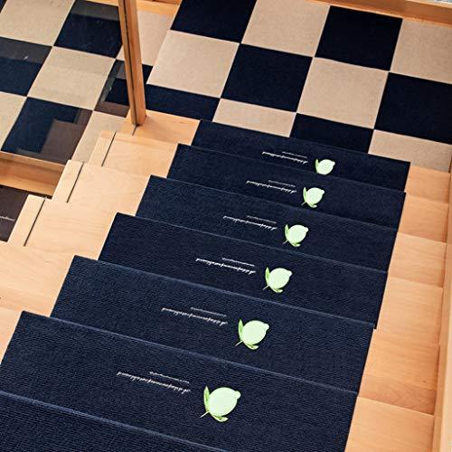 MELAG Tappeti per Scale Coprigradini Tappetini per Scale - Tappetino per Scale in Legno massello Europeo Riutilizzabile da 5 Pezzi Tappetino per Pavimento Luminoso per tappeti per Scale Antiscivolo