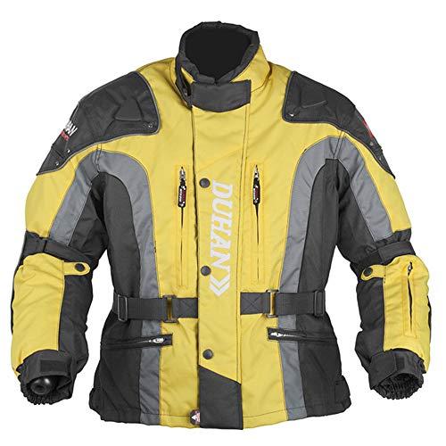 Motorjas, regenjas, waterdicht, warme binnenvoering met afneembare hoes voor motorfietsen, CE-, racepak, unisex voor vier seizoenen. L Geel