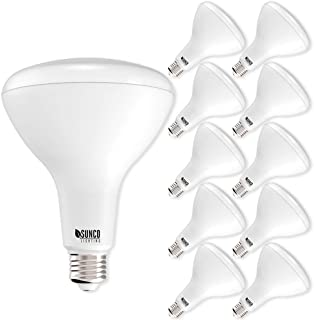 Sunco Lighting 10 Pack BR40 LED Bulb, 17W=100W, Dimmable, 4000K Cool White, E26 base, Indoor Flood Light for Cans - UL & Energy Star