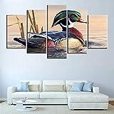WJY Animales Lienzo Pintura HD impresión 5 Piezas Carteles decoración del...