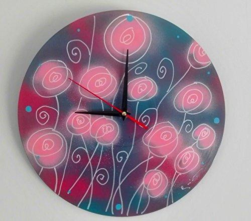 reloj de pared pintado a mano