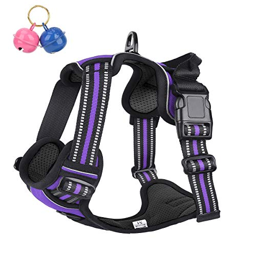 Belababy No Pull Dog Vest Harness Front Clip Handle, Reflective Easy...