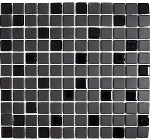 Mosaico de azulejos de cerámica negra sin barnizar para pared de baño, baño, ducha, cocina, cocina, cocina, cocina, cocina, revestimiento de las escaleras, panel de mosaico