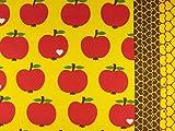 Swafing Baumwollcanvas Äpfel gelb-rot byGraziela