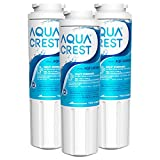 AQUA CREST UKF8001 Replacement for EveryDrop Filter 4, Maytag UKF8001P, Whirlpool EDR4RXD1, UKF8001AXX-750, 4396395, Puriclean II, 46-9006, Refrigerator Water Filter (Pack of 3)