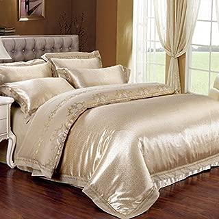 ZQ Modern fashion King Size 100%cotton 4-pieces Bedding Set European Style , King
