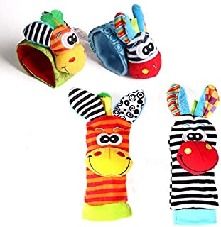 Cartoon Baby Toys 0-12 Months Soft Animal Baby Rattles Children Infant Newborn Plush Sock Baby Toy Wrist Strap Baby Foot S...