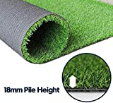 Fas Home Artificial Grass Turf (0.7' Custom Sizes) -5FTx10FT Indoor/Outdoor Rug Synthetic Lawn Grass Carpet,Easy Installation Multi-use Astroturf,Pets Dog Turf with Drain Holes