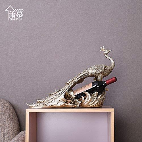 WLM Kreativer Pfau-Wein-Gestell, Harz-Verzierungen, Hauptlieferung Ornamentshome Dekoration, Dekorative Verzierungen, Geschenke
