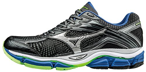 Mizuno Wave Rider 20 (W) - Zapatillas de Running Hombre, Gris (Dark Shadow/Silver/Nautical Azule), 42.5 EU