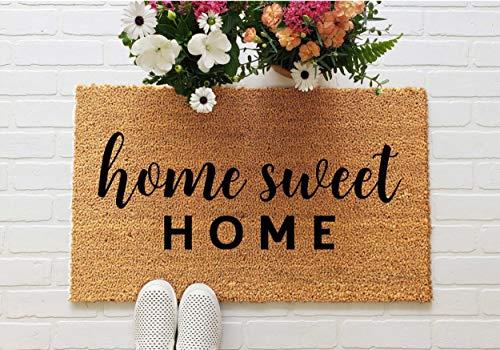 Yor242len Home Sweet Home Felpudo de Bienvenida, Regalo de inauguración de la casa, Felpudo Divertido, Bonito Felpudo para Puerta Delantera, hogar Dulce hogar