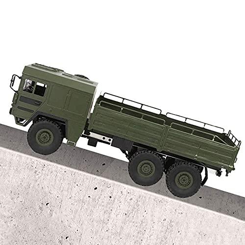 SXLCKJ Vehículo Militar de Juguete de Control Remoto 2.4GHz RC 6WD Off-Road Military Army Truck 1:16 Crawler Vehicle Transporter Simulat (Coche Inteligente)