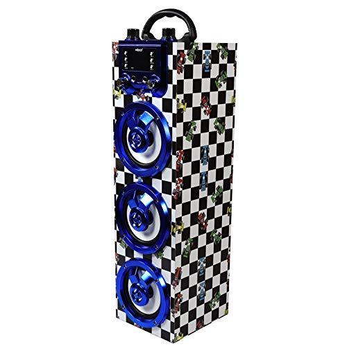 Altavoz portátil Bluetooth y función Karaoke GO-ROCK GR-WSK143 (Plateado)