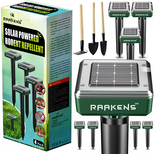 Solar Mole Repellent Ultrasonic 8 Pack Outdoor Powered Sonic Deterrent - Mole Stopper Scare Vole for Lawn Garden & Yard Home (Pack of 8)
