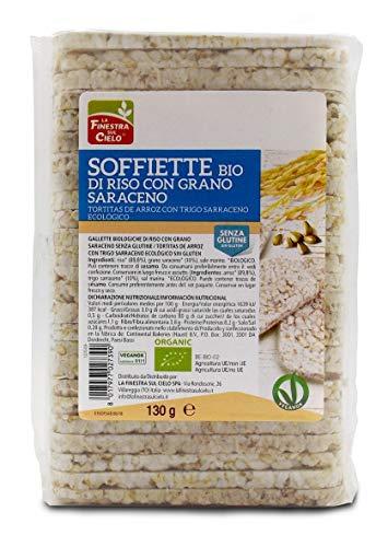 La Finestra Sul Cielo Soffiette di Riso con Grano Saraceno senza Glutine Bio - 130 g