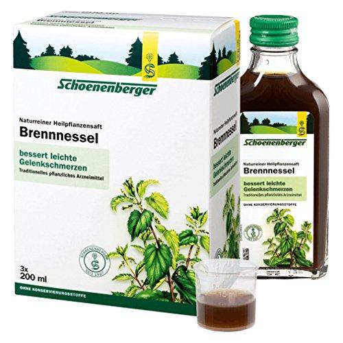 Schoenenberger Brennnessel naturreiner Heilpflanzensaft, 3x200 ml Lösung