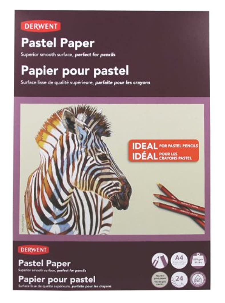 Derwent Pastel Paper Pad, A4, 8.27 x 11.69 Inches Sheet Size, Gray, 24 Sheets (2302101)