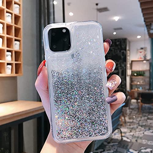 Custodia per telefono in silicone glitterato Quicksand, adatta per iPhone 12 11 Pro Max XS MAX X XR 6 6S 8 7 Plus 5 5S SE Custodia protettiva antiurto Bling, nastro, per iPhone XS MAX