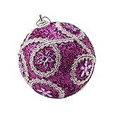 Amhomely - Bola de Navidad con diamantes de imitación, 8 cm, decoración para árbol de Navidad, decoración de Navidad, decoración de fiesta de Halloween