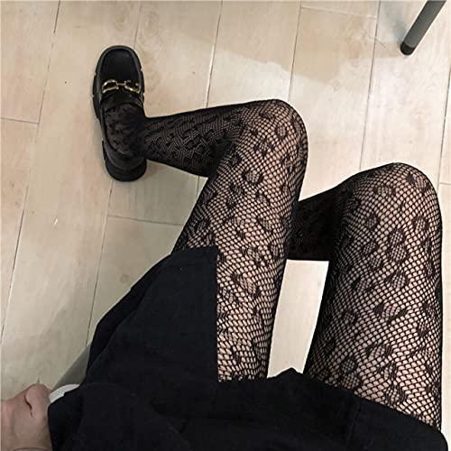 Bhdnx Medias de Mujer de Estilo japonés, Medias con Estampado de Nailon de Verano, lencería Sexy, Medias de Rejilla sin Costuras para Mujer, Pantimedias Ajustadas