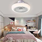 Ventilador de techo moderno con luces 18 pulgadas de montaje de...
